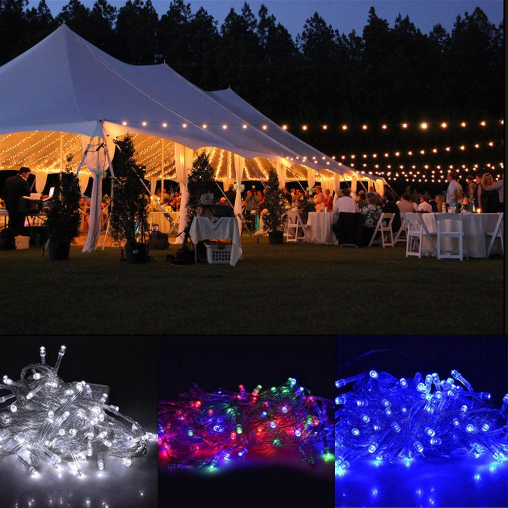 Mains powered 10m string fairy lights xmas garden wedding party led mains powered 10m string fairy lights xmas garden wedding party led micro wire string fairy party xmas wedding christmas metal lights light strips flexible aloadofball Gallery