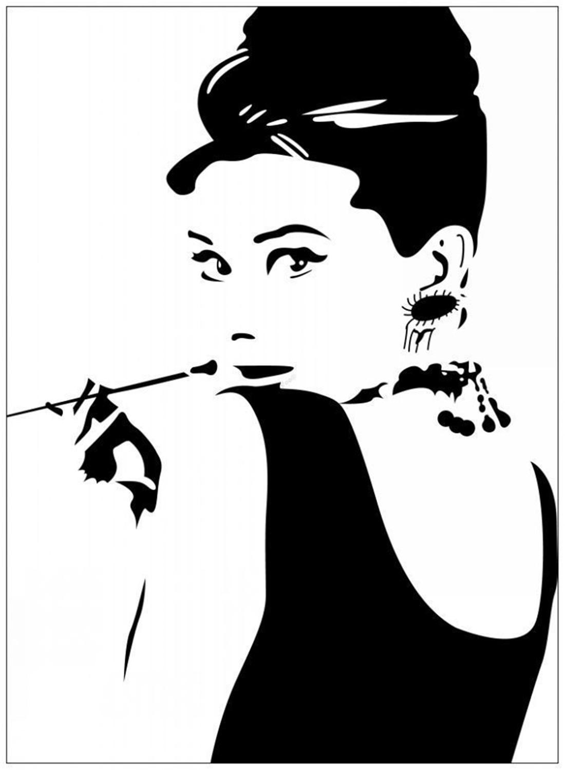 Adesivi Murali Audrey Hepburn.Acquista Audrey Hepburn Rimovibile Sticker Decal Home Art Home Decor