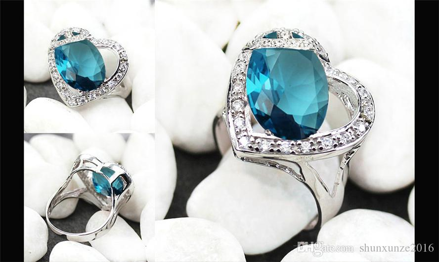 Het nieuwe product nobele genereuze MN857 SZ # 6 7 8 9 Mooie blauwe kubieke zirkonia favoriete koperen rhodium plated voor vrouwen ringen beste verkopers
