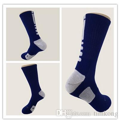 hot selling elite thick cotton sport socks knee hight cotton towel men basketball Socks long custom elite sock deodorant for men