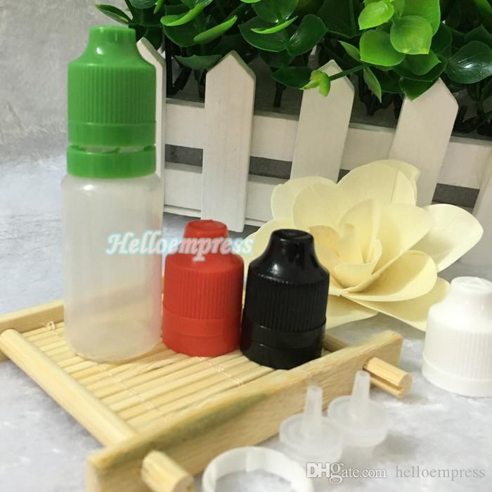 PE soft style 5ml 10ml 15ml 20ml 30ml 50ml 100ml 120ml bottiglia di plastica con contagocce e-cig con punta a prova di manomissione a prova di bambino