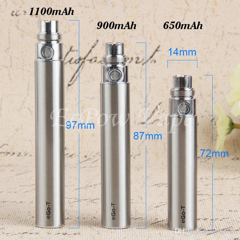MOQ 510 eGo-t Vape Pen E Cigarette Battery EGO Vaporizer 650mah 900mah 1100mah Vaping Ecig Pens USB Charger High Quality By ePacket