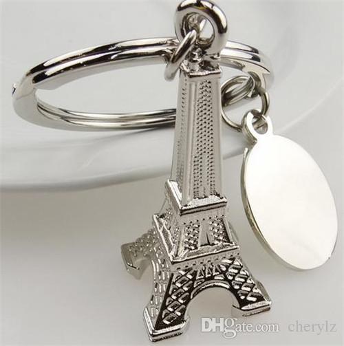 عشاق زوجين حلقة رئيسية هدية الإعلان المفاتيح سبيكة برج ايفل مفتاح سلسلة برج فرنسا فرنسا تذكارية باريس الحلي AF120