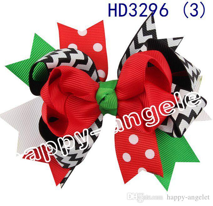 4.5inch Diseño de Navidad Flores pelo de los niños Headwear niños horquilla de pelo de las muchachas accesorios de las pinzas de pelo del bebé HD3296