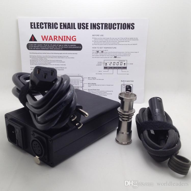 Caja digital electrónica Caja de clavos Caja de carburador Tapa de titanio con calentador de bobina de clavos para tubos de vidrio de agua