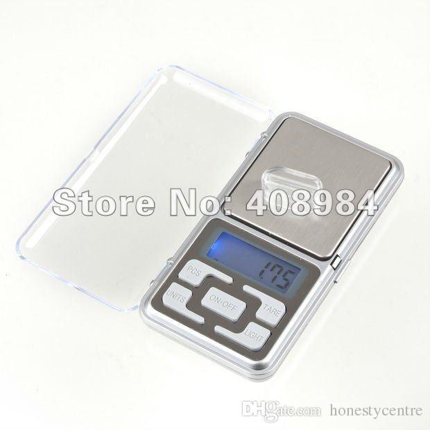 حار بيع الإلكترونية المحمولة 0.01 جرام 200 جرام شاشة LCD الرقمية جيب وزن المجوهرات الماس رصيد مقياس