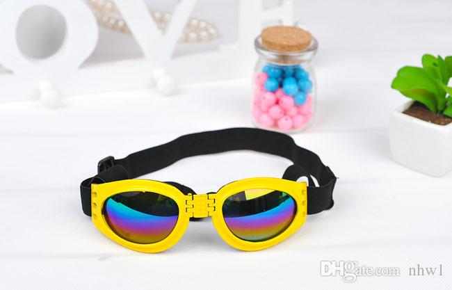 Hundebrille Fashion Dog Sonnenbrille Nette Haustiere Welpen Sonnenbrille Bling Candy Eye Wear Winddicht UV400 Augenschutz