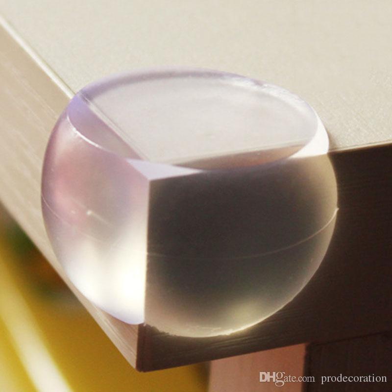 Nuevos niños creativos transparentes protectores de ángulo esférico fundas de mesa paragolpes goma de seguridad anticolisión para decoraciones del hogar