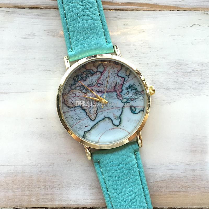 2017 new fashion world map watch geneva watches women dress watches 2017 new fashion world map watch geneva watches women dress watches quartz wristwatch watches free dhl watch buy online watch buy from top1supply gumiabroncs Gallery