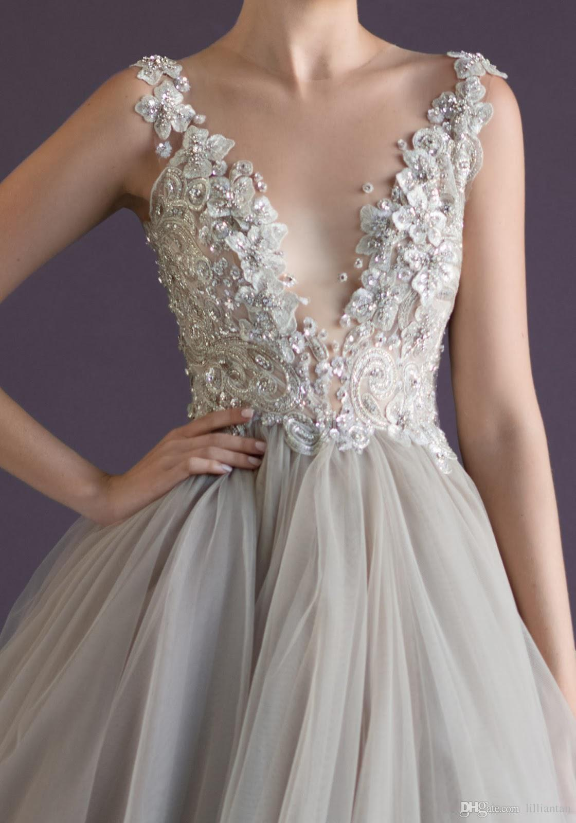 New Arrival Prom Dresses With Crew Backless Appliques Beads A Line Floor Length Tulle Paolo Sebastian Sexy Pageant Party Gowns
