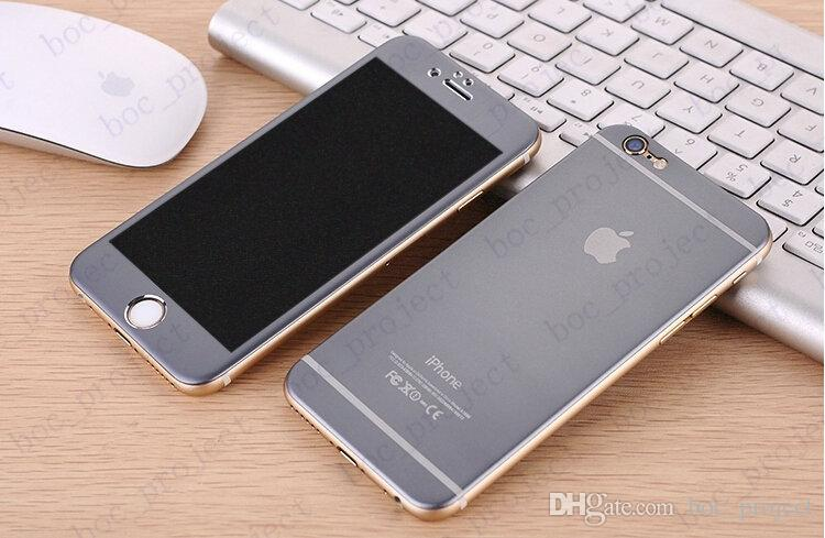 Titanium alloy Explosion proof Glass protection film Tempered glass Full screen Radian protector For iPhone 6s plus 6 plus no package