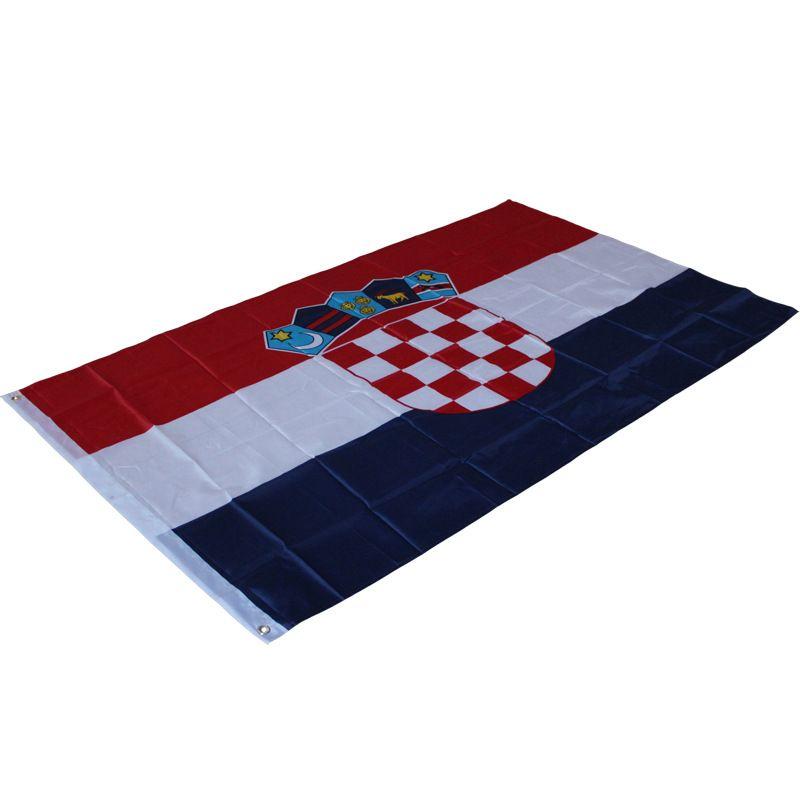 90 x 150cm Croatia National Hanging Flag - (3 x 5 Feet) Polyester Croatian  Flag - Outdoor Indoor Flag for Celebration