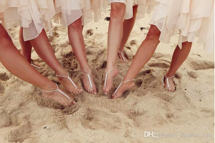 a01c9c8acbf NEW Fashion Shining Crystals Beach Barefoot Sandals Beach Wedding  Accessories Body Jewelry Wholesale Barefoot Wedding Accessories Barefoot  Sandals Foot ...