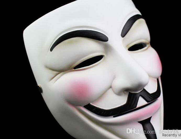 Alta qualità V Vendetta Mask Resin Collect Home Decor Partito Lenti Cosplay Maschera anonima Guy Fawkes
