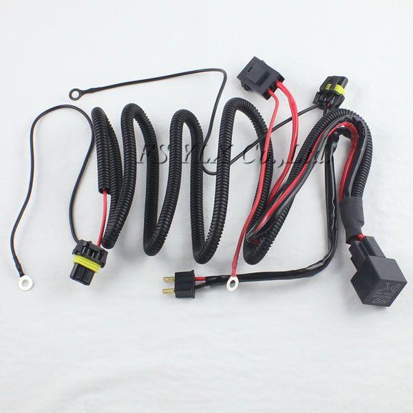 1 x HID Xenon Kit Single Beam Kabelbaum Kabel mit Relais für H1 H7 H Hid Wiring Harness on