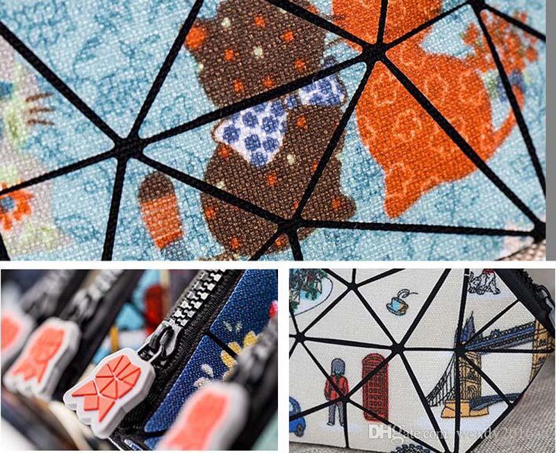 2017 Mode Creative Mix Flore Couleurs Impression Cosmétique Sacs Dames PVC Zipper Clutch Sacs