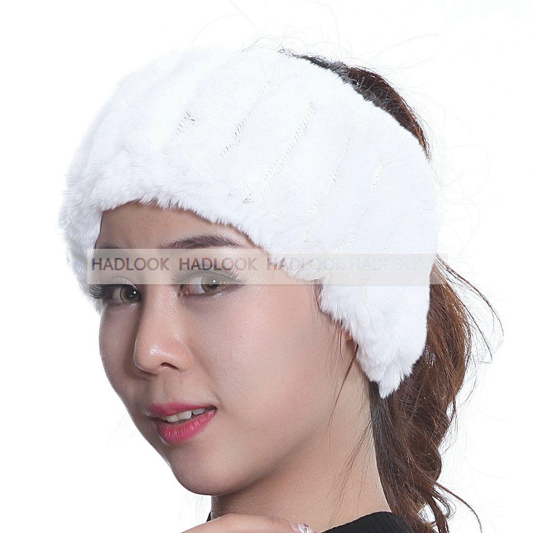 Winter fur headbands for women knitted rex rabbit fur scraf for women real fur headwrap ear warmer 2015 newest fashion hairband