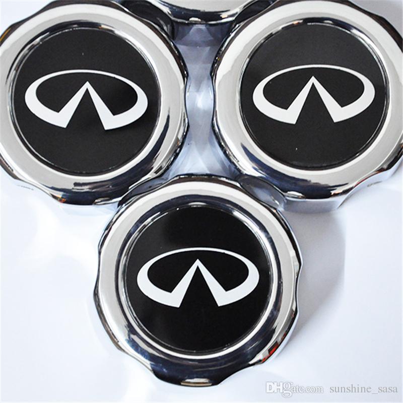 4x 1997-2014 für Infiniti Emblema Chrom Radmitte Abdeckkappen HubCap Tampas für Para Pathfinder Frontier für Infiniti QX4
