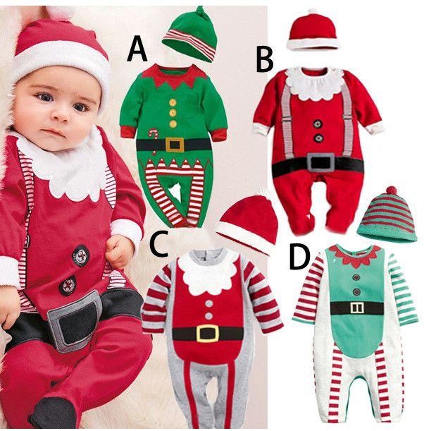 2017 Children Christmas Clothes Modeling Romper Autumn Long Sleeve ...