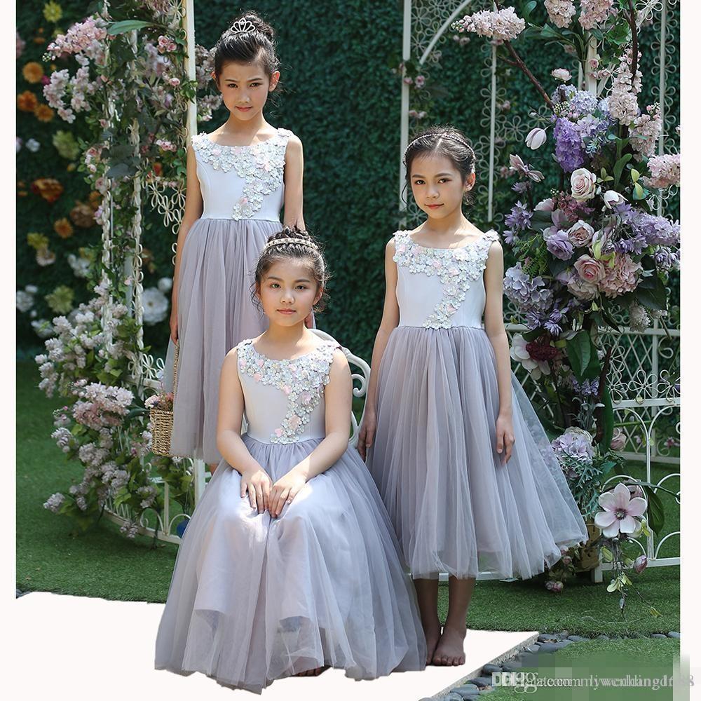 großhandel kleinkind 2018 lila blume mädchen kleider für hochzeit günstige  handgemachte blumen tüll maß lange mädchen pageant geburtstag party kleid