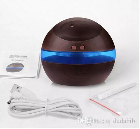 Humidificateur ultrasonique Diffuseur Aroma Diffuseur fabricant de brume avec USB Expédition gratuite de LED