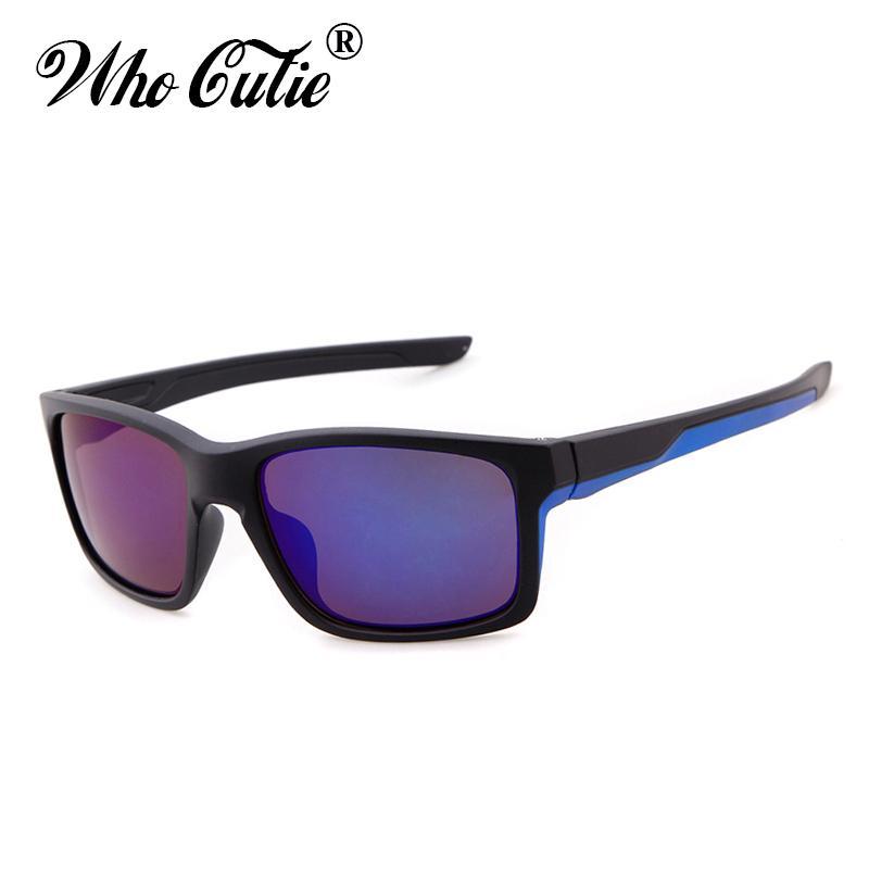 3055c39ca5 WHO CUTIE 2018 Sport Sunglasses Men Brand Designer Square Plastic Frame  Male Hot RAYS Sun Glasses For Driver Dark Shades OM453 Smith Sunglasses  Sunglasses ...