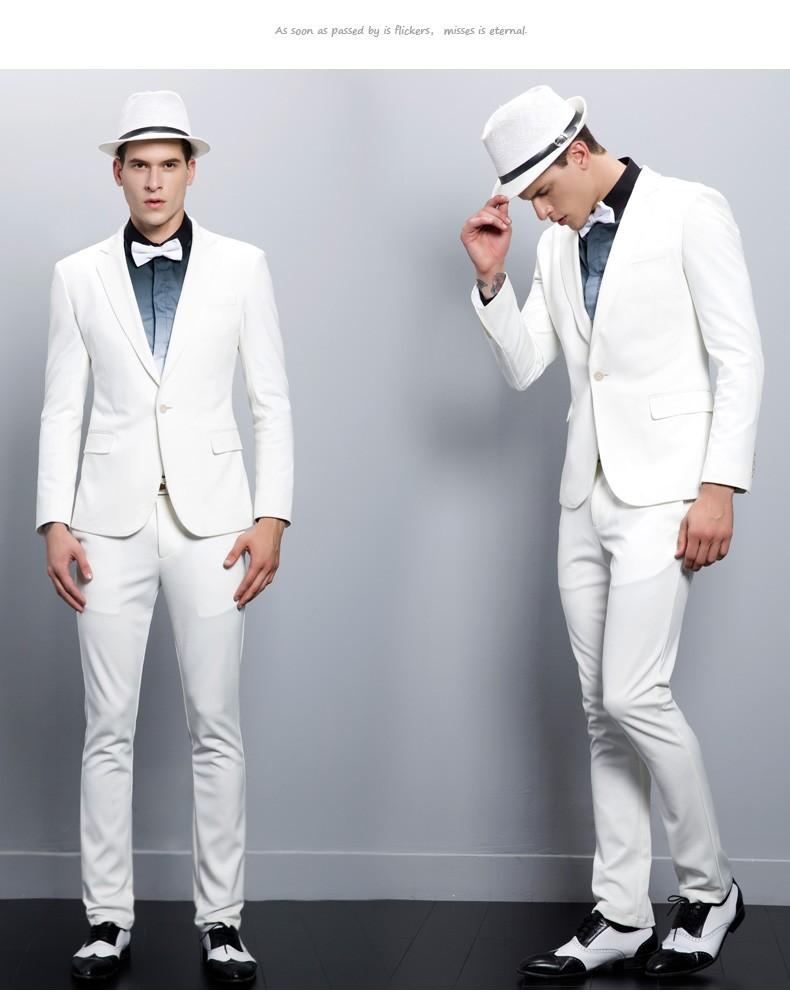 White Slim Fit Suit - Suit La