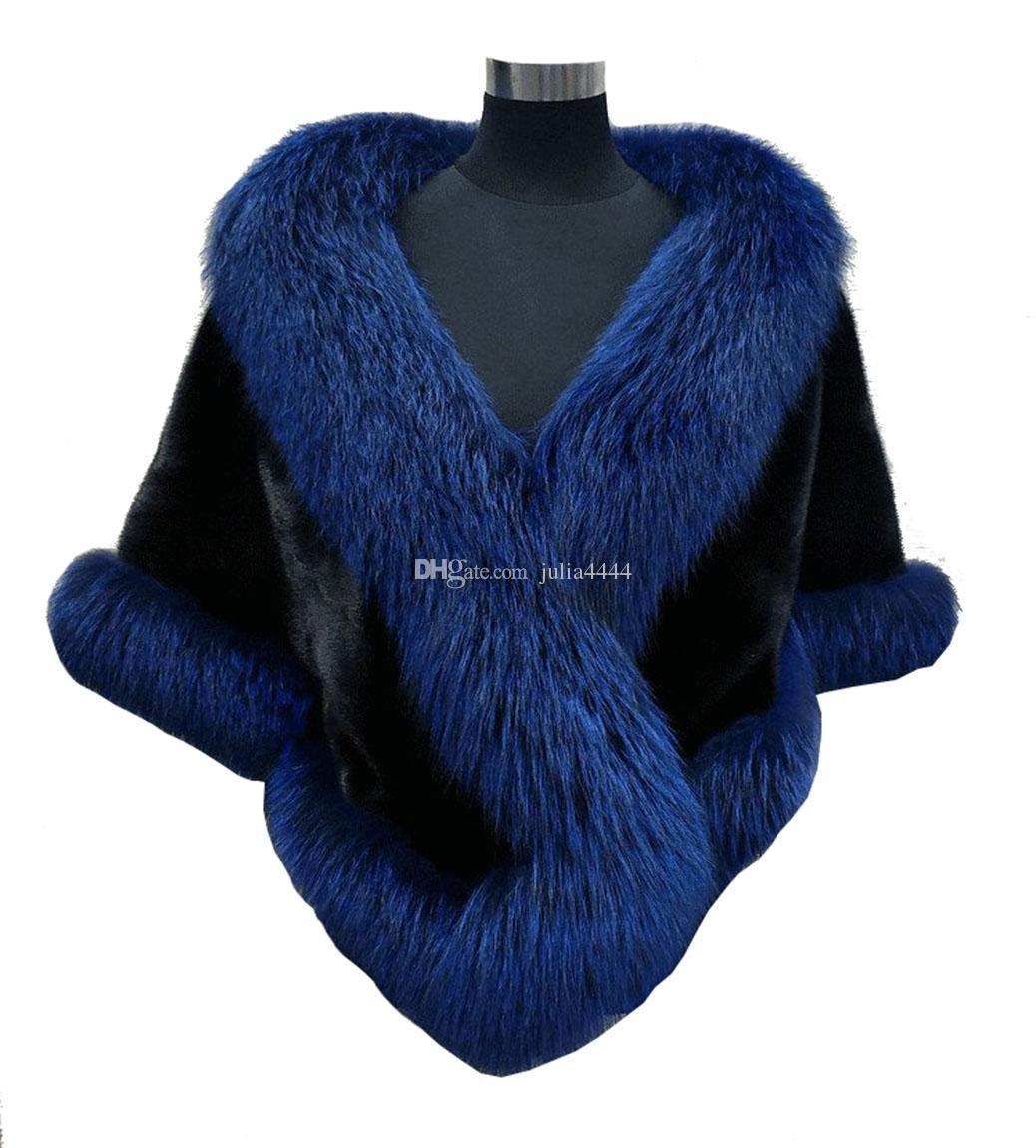 10 цветов смешанные заказы осень зима 2019 новые длинные лиса из искусственного меха свадебные обертывания вечернее платье платок плащ шарф женский коктейль партии