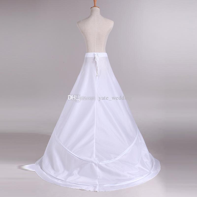 Hoop mariée Jupon de mariée sirène Crinoline Jupes taille élastique Feuillets pour Robes de mariée Agitation Sous balayage train