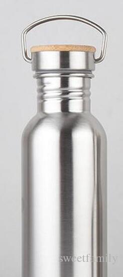 50 قطعة / الوحدة 750 ملليلتر واسعة الفم فراغ معزول زجاجات السفر دراجة المقاوم للصدأ زجاجة المياه مع مقبض