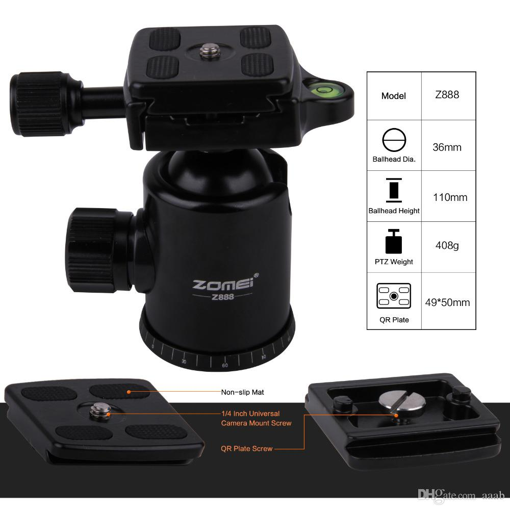 Freies DHL Zomei Z888 Reise Aluminium Stativ Einbeinstativ + Kugelkopf 5 Optional Farben für 20lbs DV DSLR Kamera Canon Nikon Sony