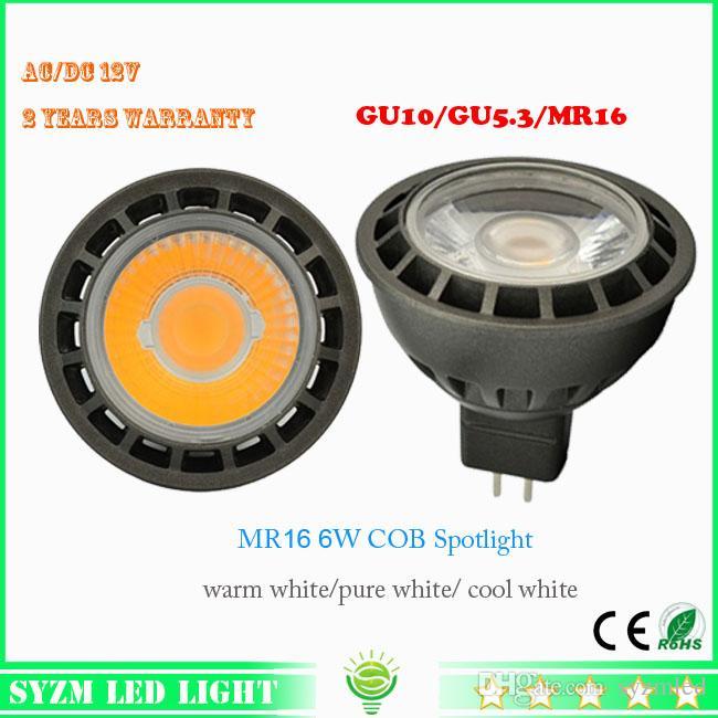 12 volt led light bulbs mr16 6 watts spotlight cob high quality whitewarm white indoor led light from syzmled 432 dhgatecom