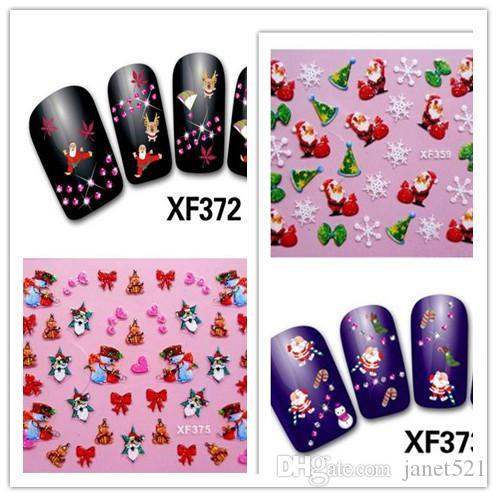 Christmas nail stickers christmas nail decoration stickers nail christmas nail stickers christmas nail decoration stickers nail decals nail design stickers nail art sticker from janet521 046 dhgate prinsesfo Gallery