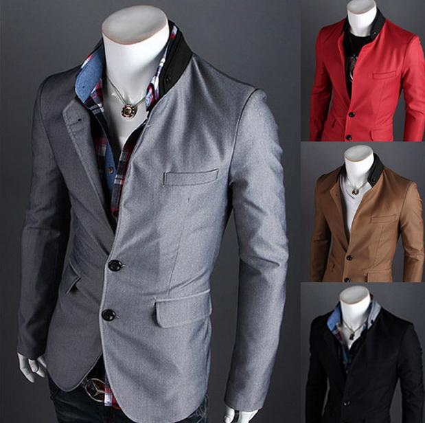2018 Hot Selling Mens Blazers Jackets Brand Slim Fit Wholesale Collar  Stitching Design Men Single Row Two Button Suit Small Xx28f From  Voguestreet, ...