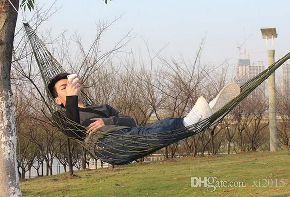 Summer Lightweight Nylon meshy hammock light and portable Single Max load 100KG 240*80 cm mix color