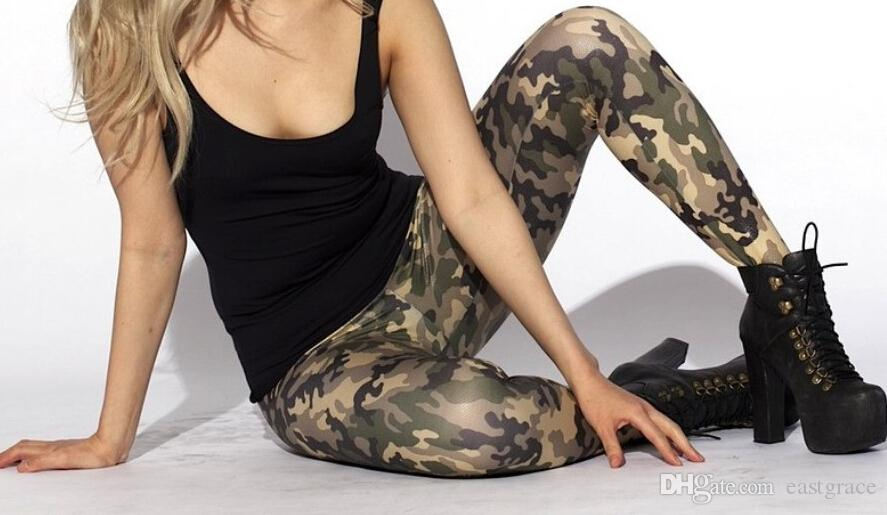 The digital camouflage color printing women leggings pants Sexy leggings wholesale and retail Fashion leggings tight pants