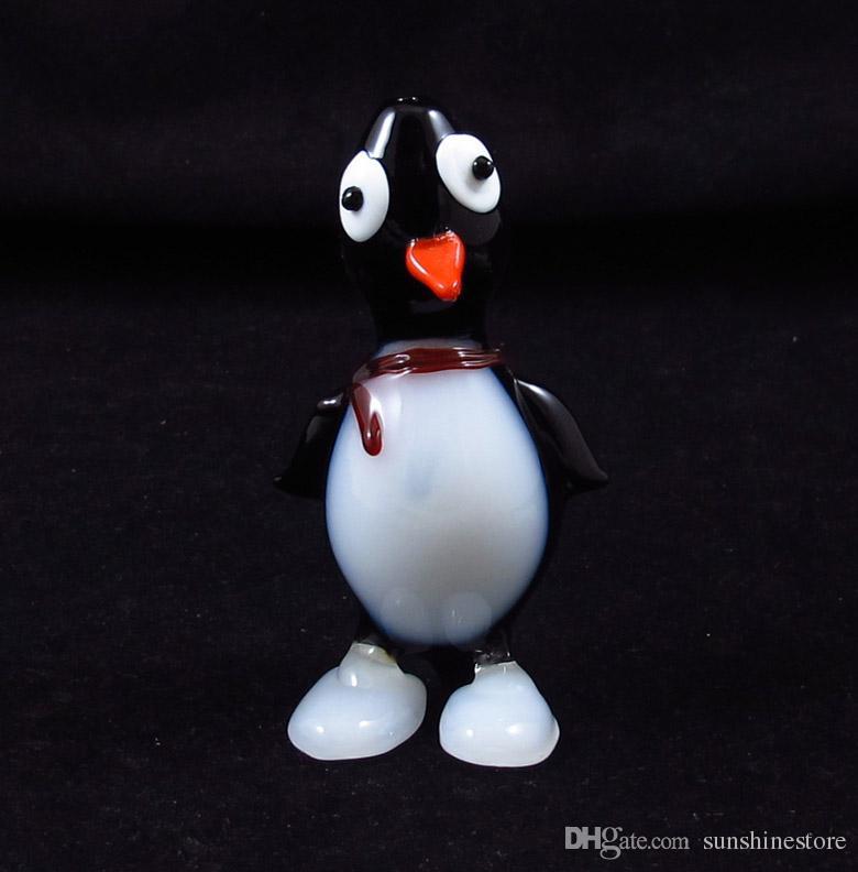 Pinguïn Populaire stijl hand geblazen glazen rook roken hand dierlijke pijpleidingen lepel hoogte: 4,7 inch