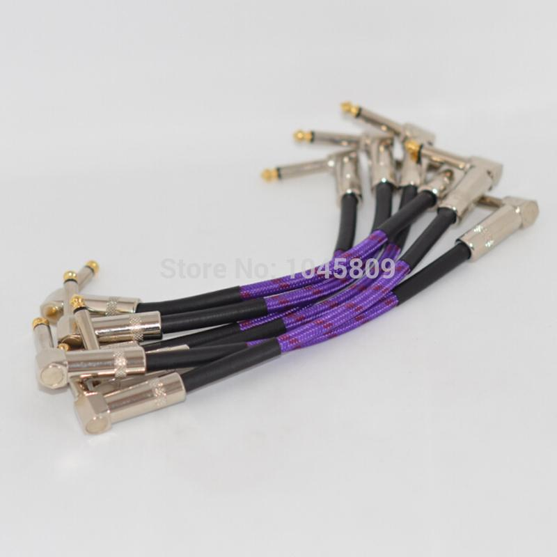 21cm Purple Guitar Patch Cables Effects Cable Guitar Cable Wire ...