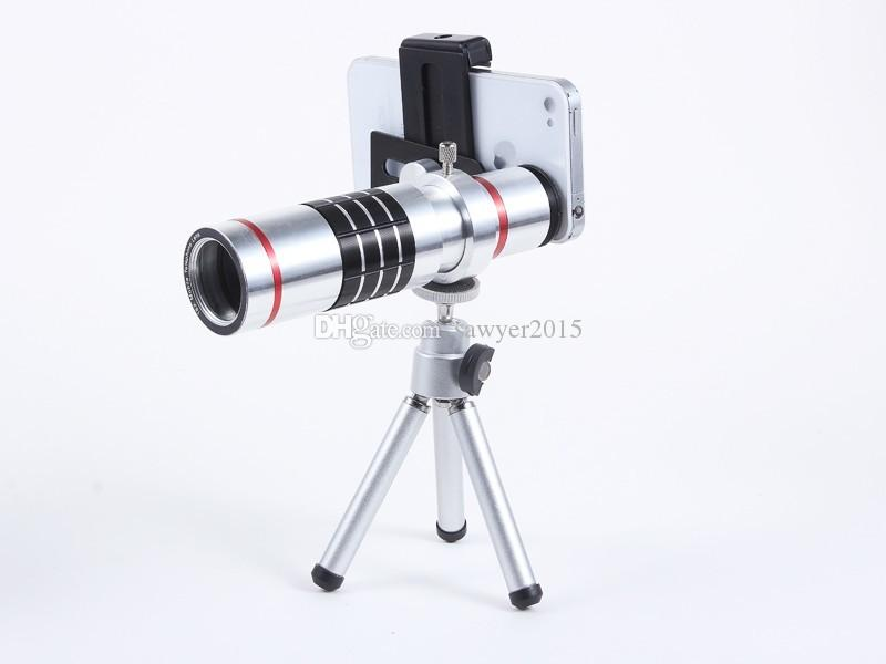 Metal 18X Universal Zoom optical Telescope Camera telephoto Lens with tripod mobile phone lens with retail box
