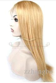 Luxury Fashion Wigs Brazil Virgin Hair%100 Human Hair Full Lace Wigs Seamless Density 150% Hair Straight Hair Color Golden Color #27 KABELL