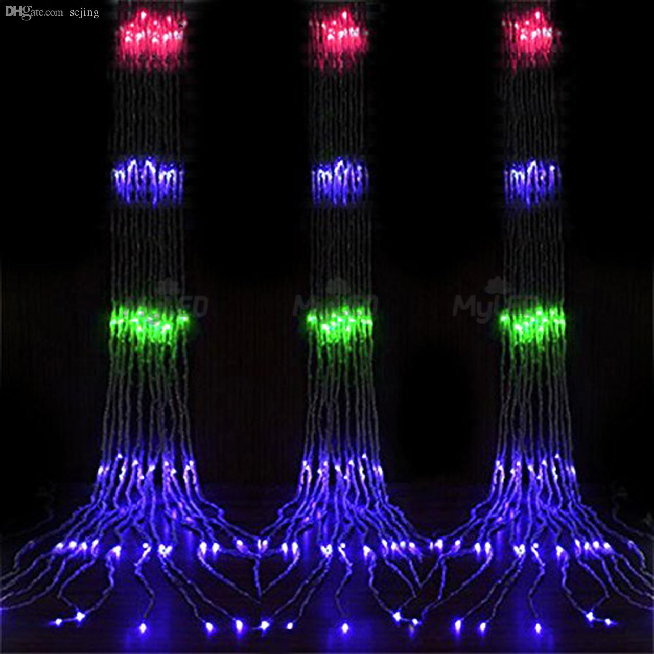 Wholesale Ce Rohs 6mx3m 880 Leds Au Plug Curtain Waterfall String Ultra Bright Led Lamp For Ac230v Lights Waterproof 8 Modes Rgb Light Colorful Globes Sale