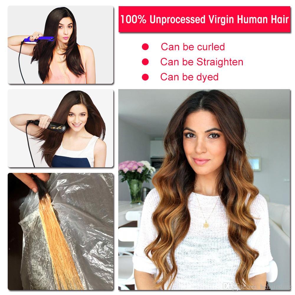 HC Haar-brasilianische Körper-Wellen-Menschenhaar Bundles 3 Bundles mit Spitze Frontal Remy Haar-Webart Bundles 13x4 Frontal