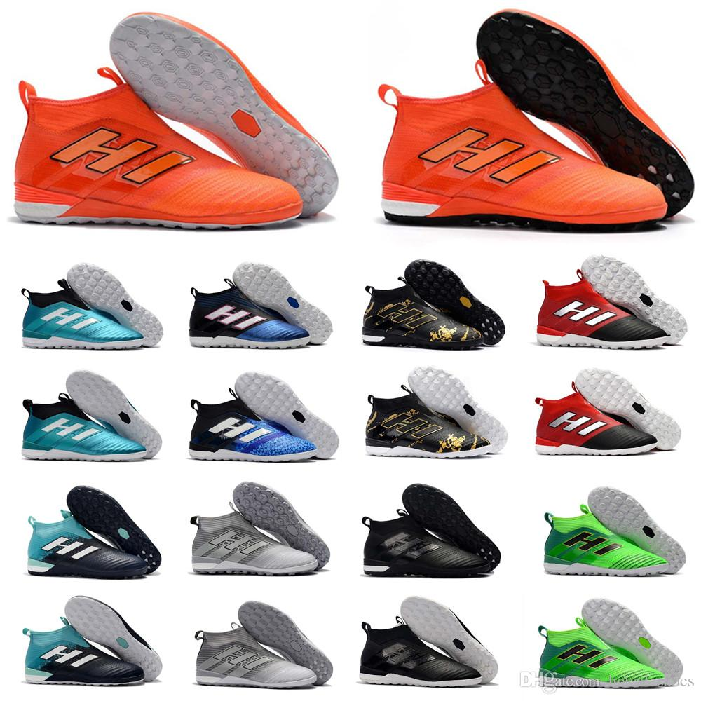 9485ce45e9b 2019 2018 High Top Mens Soccer Cleats Ace 17 Crampons De Football Boots  Indoor Soccer Shoes ACE Tango 17 Purecontrol IN TF Turf High Quality Hot  From ...