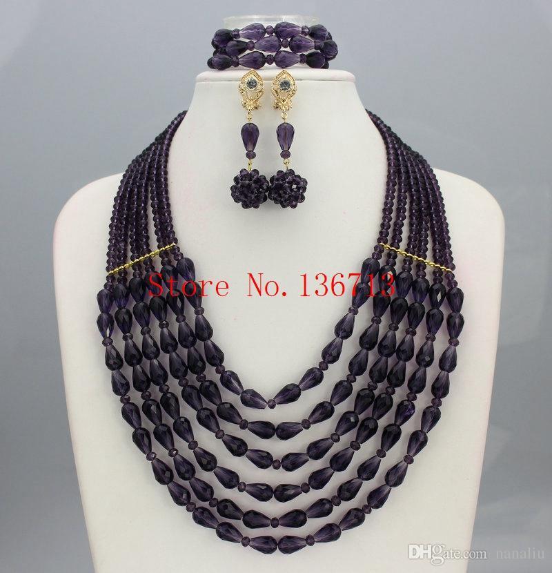 Best Hot 2016 Red Nigerian Wedding African Beads Jewelry Set Dubai ...