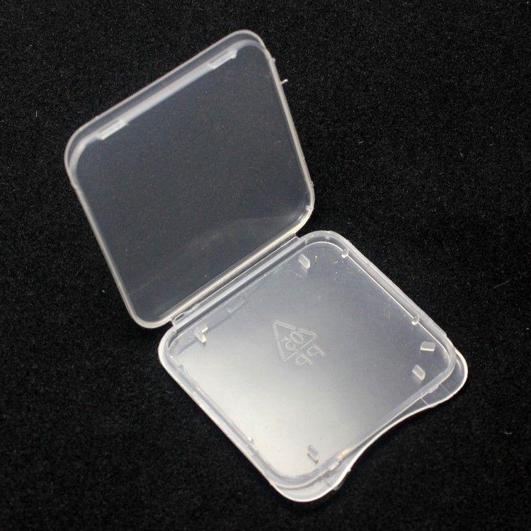 Cartão SD caixa de plástico caixa transparente Cartão de Memória Padrão MS suporte da caixa do branco armazenamento caso para o cartão SD