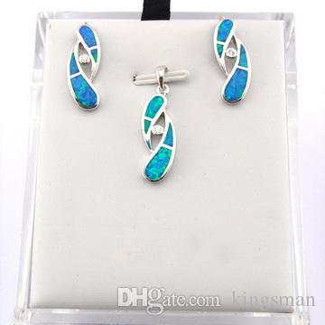 Бесплатная доставка Opal ювелирные изделия с CZ камень; мода опал ювелирных изделий Mexicay0an Fire Opal ювелирные изделия Установите последние моды OS003A