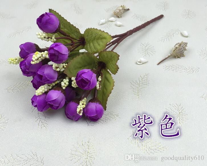 10 букетов один букет 15 бутонов искусственный ручной работы бутон розы цветочные головки для свадьбы главная свадебный букет украшения
