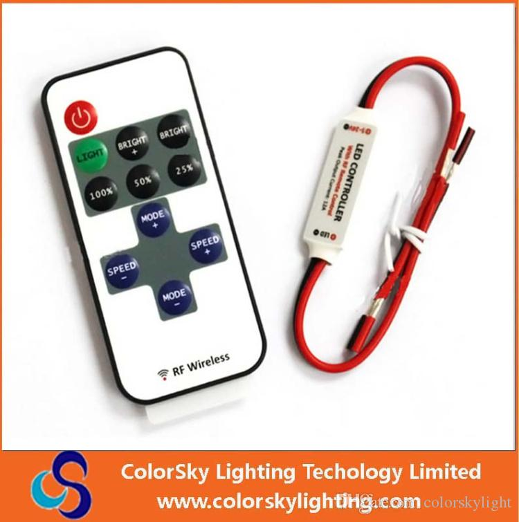online cheap rgb led lamps remote control led christmas light controller 11 key led single color dimmer wireless rf remote control led strip by - Christmas Light Dimmer