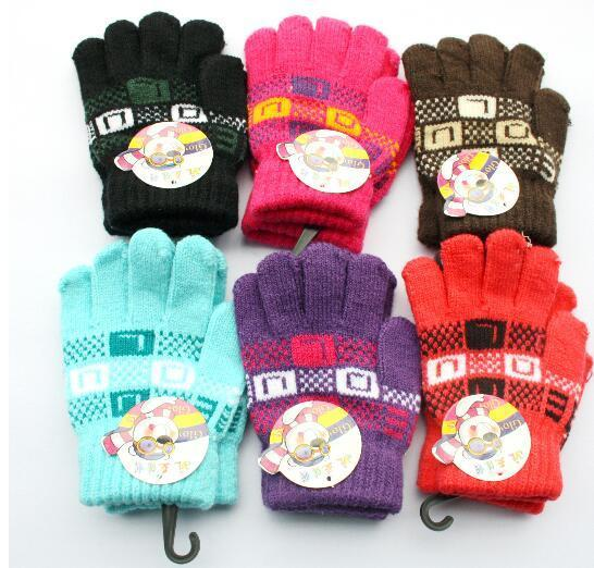 4bb1c48097b Infant Baby Boys Girls Mittens Outdoor Finger Gloves Cute Stripe ...