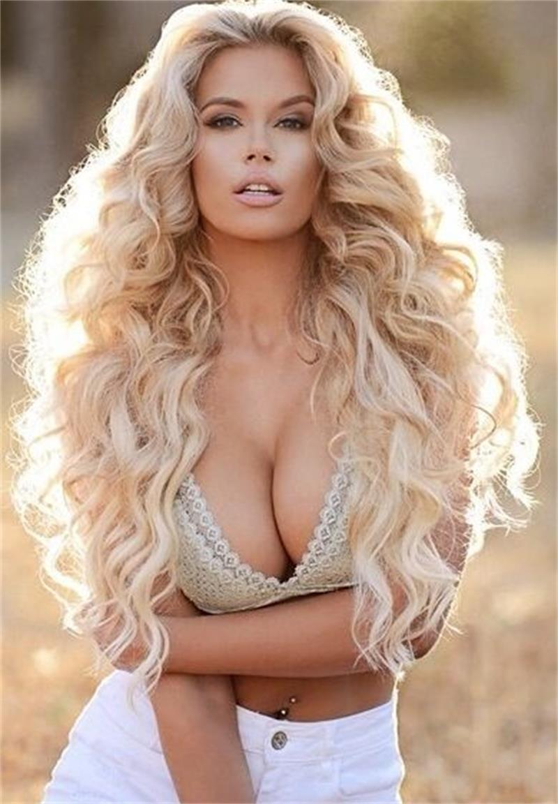 8a Grade Blonde Body Wave Front Lace Human Hair Wigs For